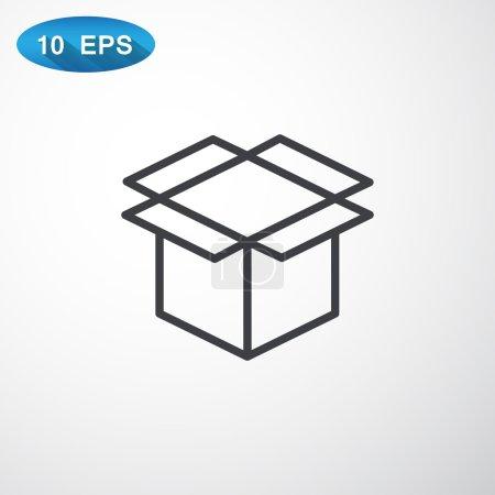 Illustration pour Emballage boîte en carton icône. illustration vectorielle - image libre de droit