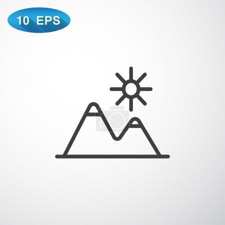 Mountains travel Icon