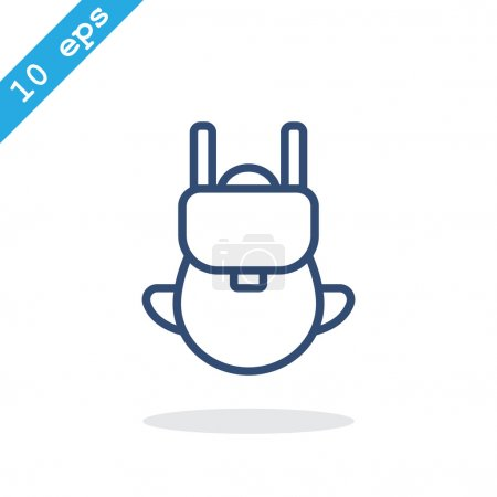 Bag tourist web icon