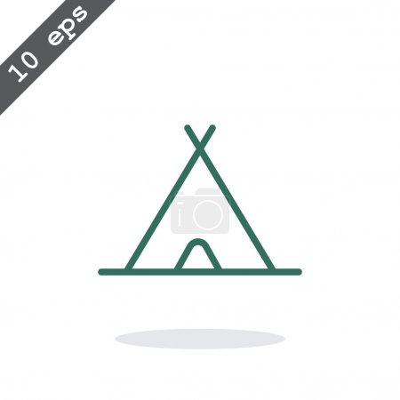 sport and tourism line web icon