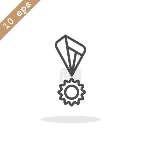 Illustration for Champion award icon. vector illustration - Royalty Free Image