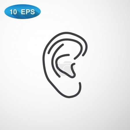 Illustration for Ear dody icon. vector illustration - Royalty Free Image