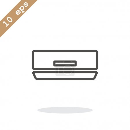 air conditioner line icon