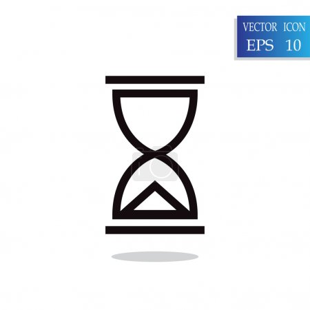 hourglass instrument of time icon