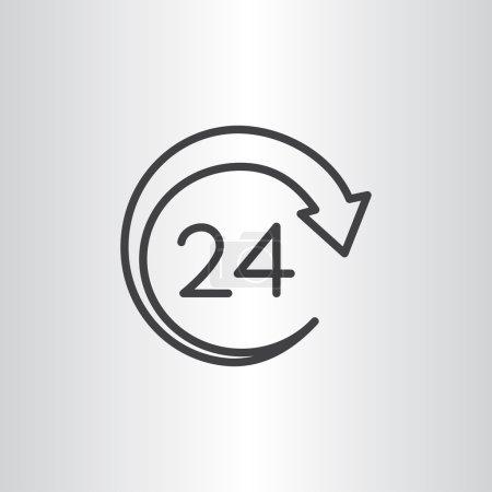 twenty four hours service icon