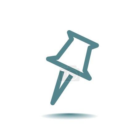 Illustration pour Icône de fixation Pushpin. illustration vectorielle - image libre de droit