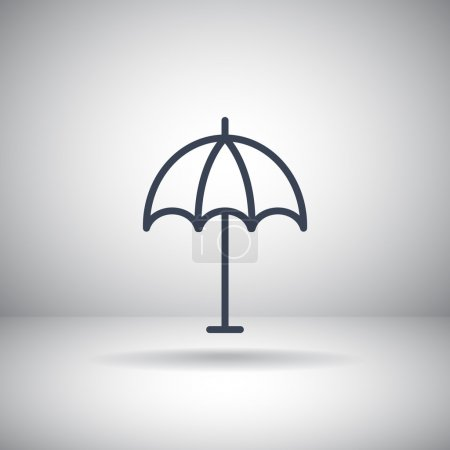 beach parasol icon