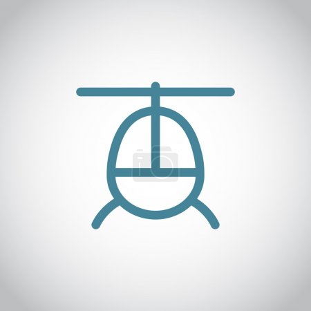 helicopter aircraft icon
