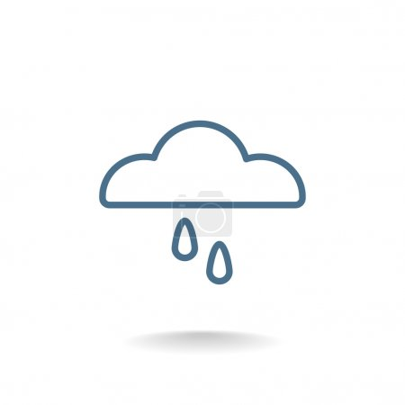Illustration for Cloud and rain icon. weather symbol. vector illustration - Royalty Free Image