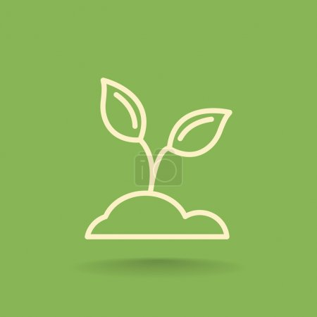 Illustration for Vector illustration of sprout ecology icon - Royalty Free Image