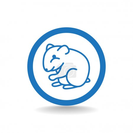Cute hamster icon