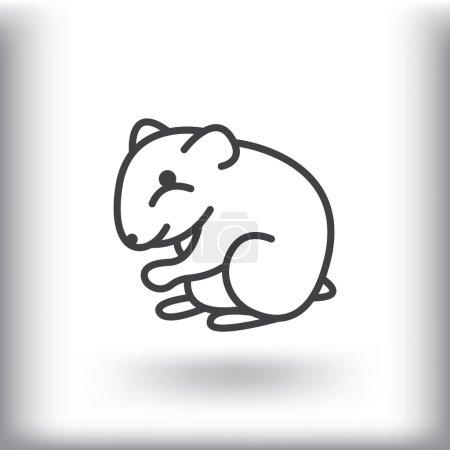 Cartoon hamster icon