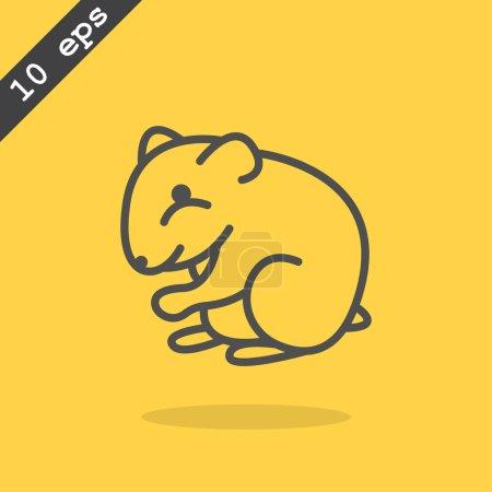 Cute hamster web icon