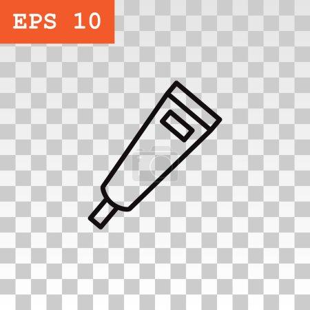 Illustration for Gel, foam or liquid soap dispenser pump, plastic bottle icon. vector - Royalty Free Image