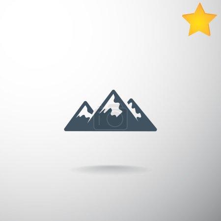 Mountains hiking icon