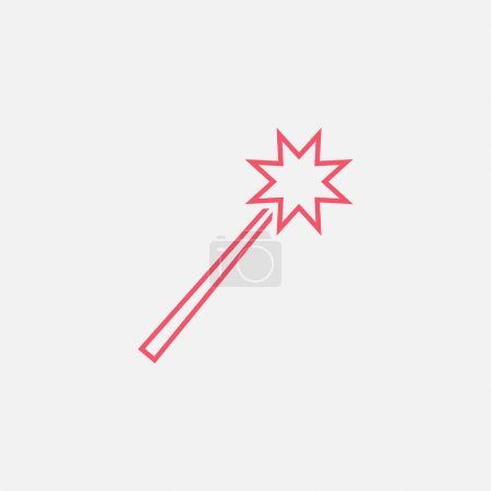 Magic wand icon. vector illustration...