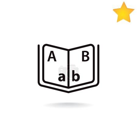 Book, reading icon. vector illustration...