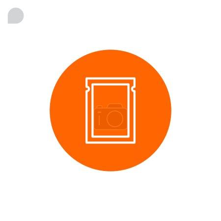Polyethylene bag icon  .
