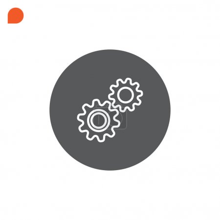 Illustration for Mechanism, cogs, gear icon. vector illustration - Royalty Free Image