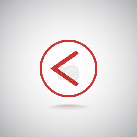 Illustration for Left direction arrow icon. vector illustration - Royalty Free Image