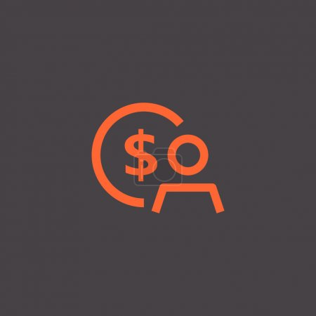 Employee wages icon