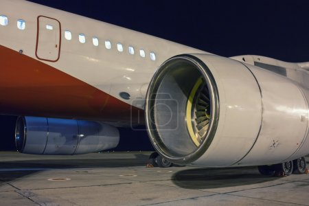 Aircraft engines in the night
