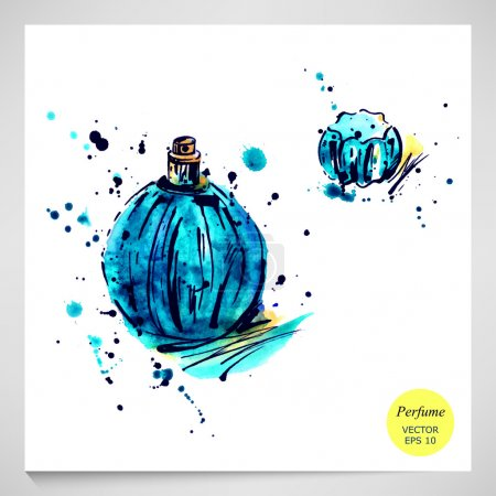 illustration of women's perfume.