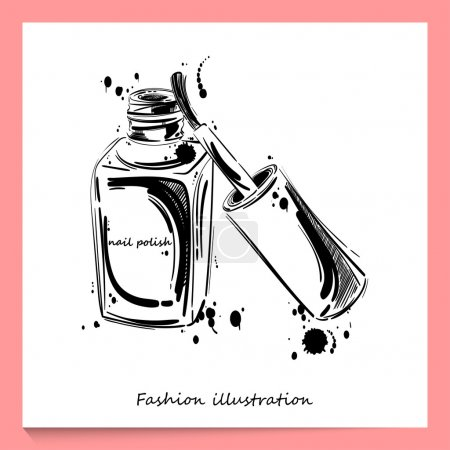 Illustration of nail polish.