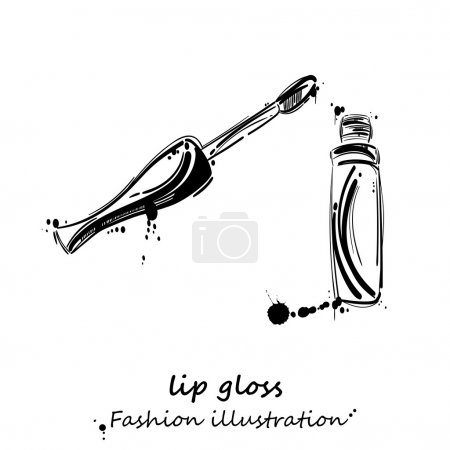 Vector abstract illustration of lip gloss