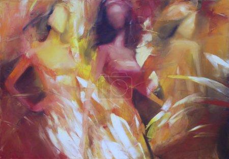 weibliche Figuren handgemachte Malerei