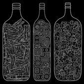 Set of glass jars