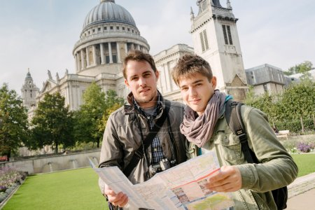 Two young tourists