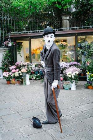 Улице подражая художника Чарли Чаплина