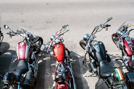 Motorcycles aerial view