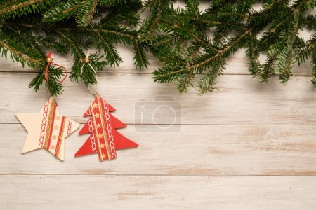 Christmas decoration on the table