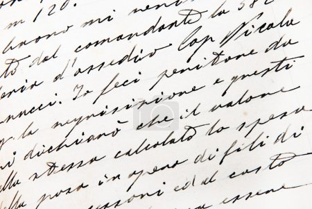 Photo for Old handwriting close up view - Royalty Free Image