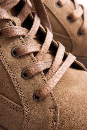 Brown textile shoelaces