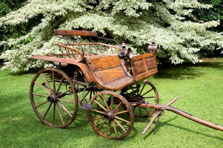 old wooden carriage