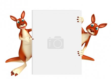 Kangaroo collection with white board