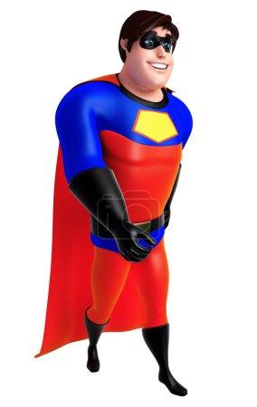 3D Rendered illustration of superhero with walking pose