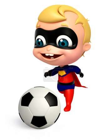 3D Rendered illustration of superbaby with