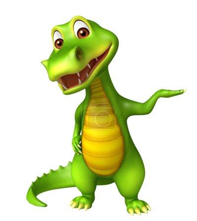 Cute funny Aligator cartoon character