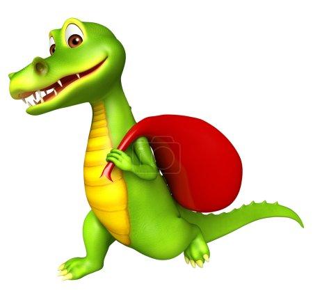 Cute Aligator cartoon character