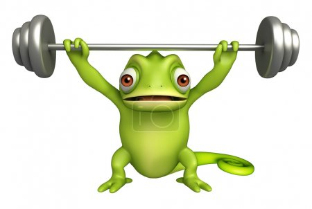 cute Chameleon cartoon character  gim equipment