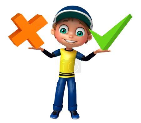 Photo pour Enfant garçon avec maths signe - image libre de droit