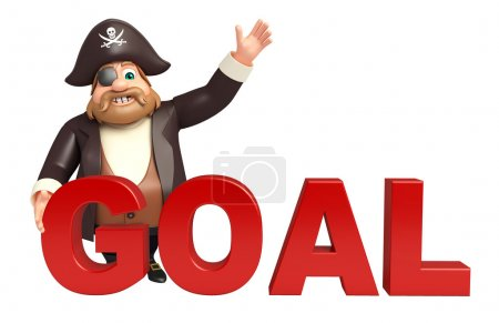 Pirate with Goal sign