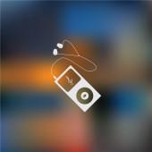 Ikona zařízení přenosné hudební