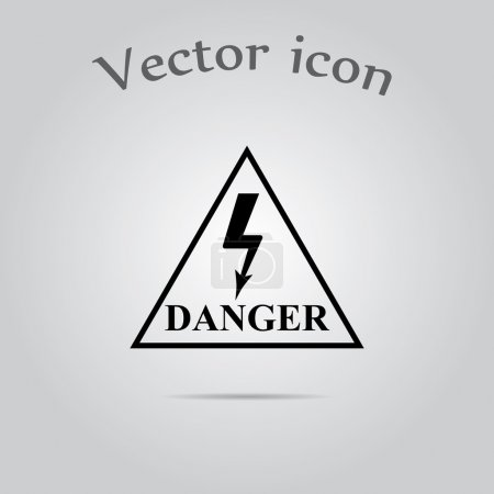 Danger high voltage vector icon...