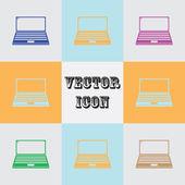 Přenosný počítač ikona ilustrace