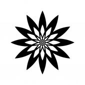 Abstract flowers Vector black simple icon for web and mobile Flat style